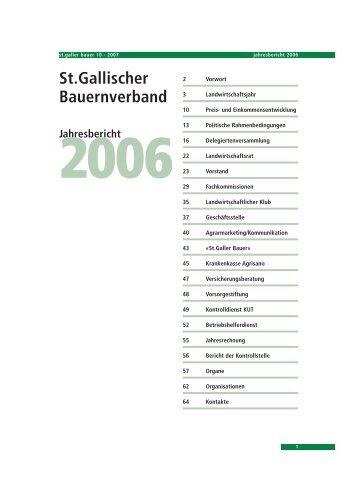 Jahresbericht 2006 - St.Galler Bauernverband