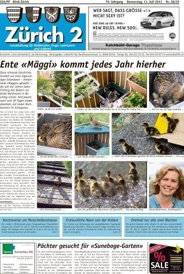 Ente «Mäggi» kommt jedes Jahr hierher - Lokalinfo AG