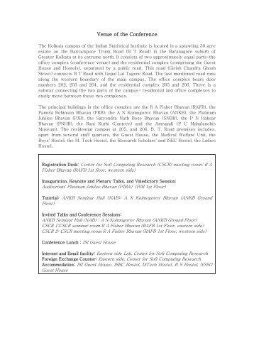 Venue, Paper Presentation and Session Details - Indian Statistical ...
