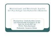 Motivationale und Emotionale Aspekte der Psychologie ...
