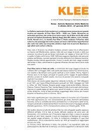 comunicato stampa La Galleria nazionale d'arte ... - 24 ORE Cultura