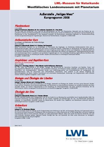 Kursprogramm Heiliges Meer 2008 - Natur-in-NRW.de