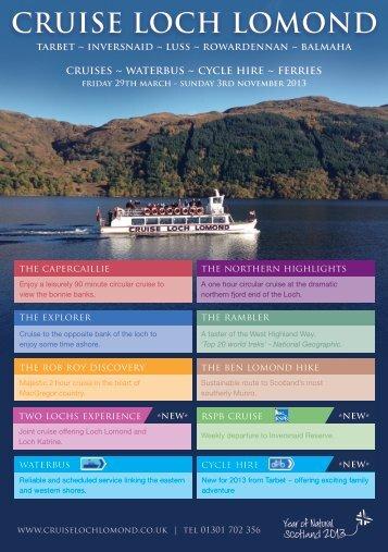 2013 brochure - Cruise Loch Lomond