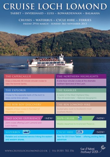 2013 brochure - Cruise Loch Lomond