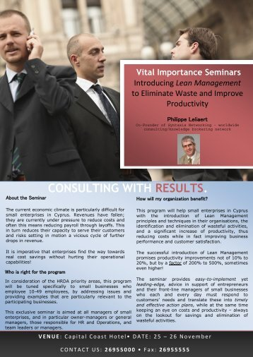 Download seminar brochure - Digipro Computer Consultants Ltd.