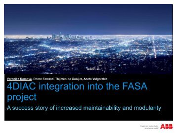 4DIAC integration into the FASA project: a success story of ...