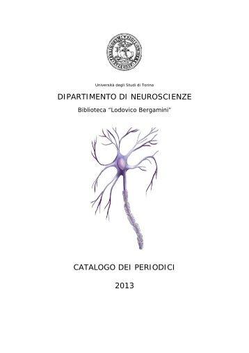 CATALOGO 2013.pdf - Università degli Studi di Torino