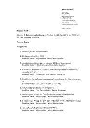 Niederschrift über die 2. Gemeinderatssitzung am Freitag ... - Villach