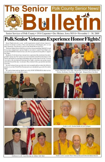 November Senior Bulletin _ 2009a.p65 - Polk County Iowa