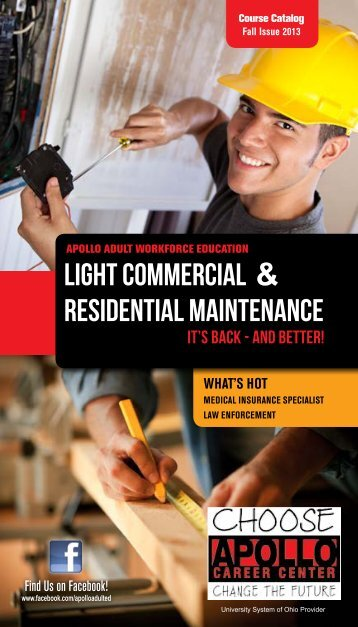 light commercial & residential maintenance - Apollo Career Center