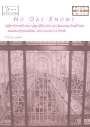 No One Knows - Offender Health Research Network