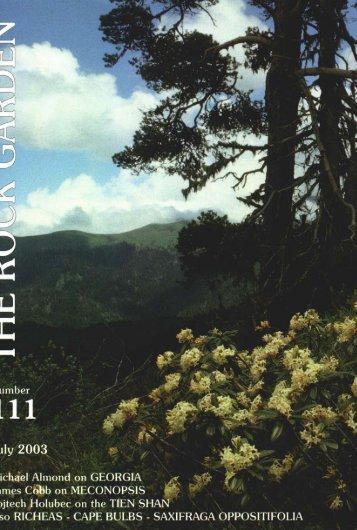 11 - the Scottish Rock Garden Club