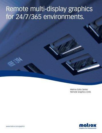 matrox-extio-series-datasheet.pdf - 3G Electronics Srl