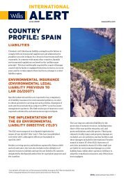 COUNTRY PROFILE: SPAIN - Willis