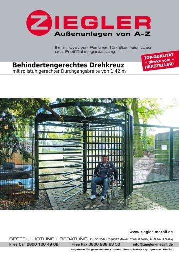 Behindertengerechtes Drehkreuz - Ziegler