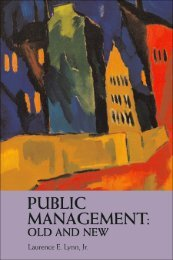 Public Management: Old and New - Student Blog