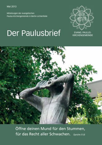 Mai 2013 - Ev. Paulusgemeinde Lichterfelde