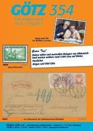 G Ö TZ 3 5 4. Briefmarken-Auktion - Auktionshaus Jürgen Götz