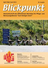 Blickpunkt April - Juni 2013 (pdf - 2MB) - Zum Heiligen Geist