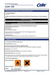 IsOH 100 - CEBE Reinigungschemie GmbH