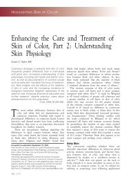Enhancing the Care and Treatment of Skin of Color, Part 2 ... - Cutis
