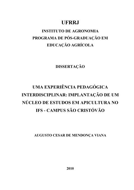 Augusto Cesar De Mendonça Viana Instituto De Agronomia