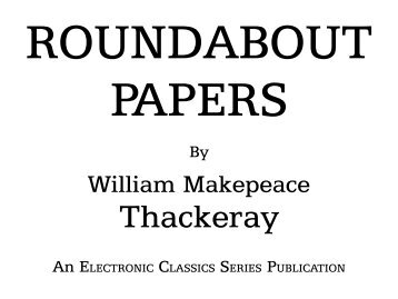 Roundabout Papers - Penn State University