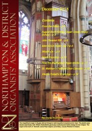 December 2013 PDF - Northampton & District Organists' Association
