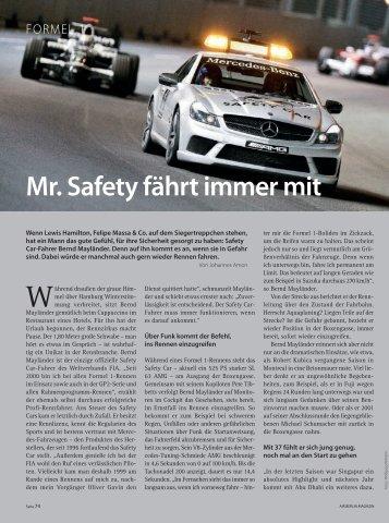 Mr. Safety fährt immer mit - Bernd Mayländer