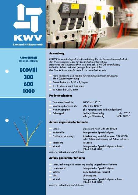 eCoVill 300 600 1000 - KWV