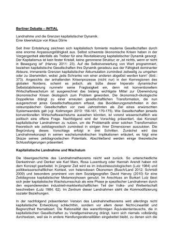 Berliner Debatte – INITIAL Landnahme und die Grenzen ...