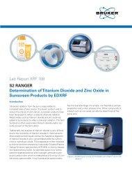 XRF 108 S2 RANGER Sunscreen Products DOC-L80 ... - Bruker