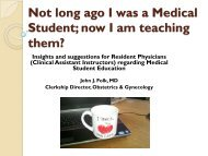 Medical Student Education for Residents - SUNY Upstate Medical ...