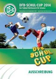 Ausschreibung DFb-schul-cup 2014