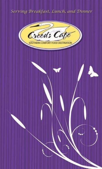 Menu - Creeds Cafe