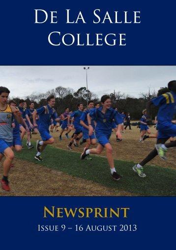 Newsprint No. 9 - De La Salle College