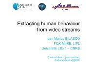 Extracting human behaviour from video streams - Multitel
