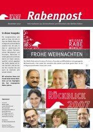 Rabenpost Dezember 2007 - Weisser Rabe