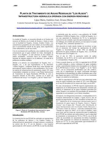 """Planta de tratamiento de aguas residuales """"Los Alisos"""""""