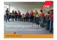 Seminarprogramm 2013 für Studierende, Aktive ... - Streber-Online