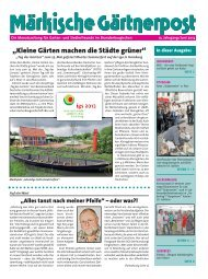 Ausgabe 06 / 2013 - Kreisverband Potsdam der Garten-und ...