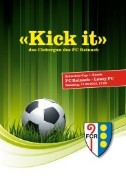Kick it» das Cluborgan des FC Reinach