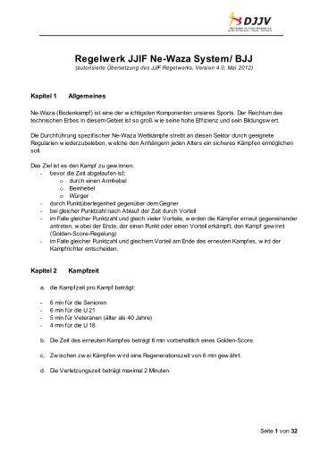 Regelwerk JJIF Ne-Waza System/ BJJ