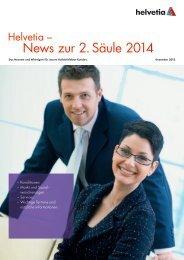 Helvetia – News zur 2. Säule 2014