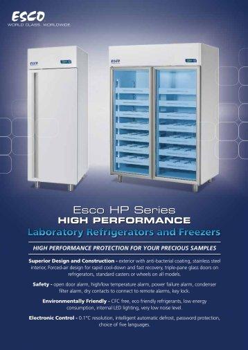 Laboratory Refrigerators and Freezers Esco HP Series
