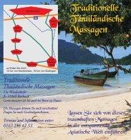 Traditionelle T hailandische Massagen
