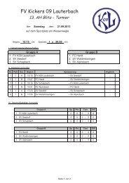 Spielplan AH 2013 - FV Kickers 09 Lauterbach eV