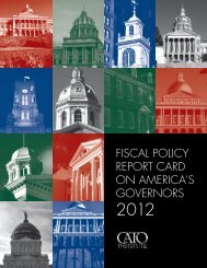 fiscal policy report card on america's governors - Cato Institute