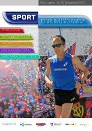 Das Programm 2013 als PDF einsehen! - Sport Forum Schweiz