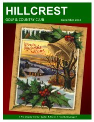 Newsletter - Hillcrest Country Club